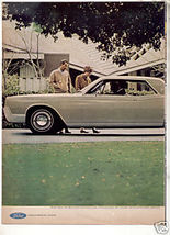 1967 LINCOLN CONTINENTAL VINTAGE CAR AD 2-PAGE - $9.99