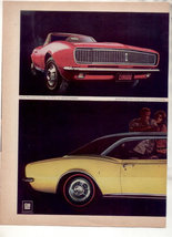 1966 1967 CHEVY CAMARO SS 350 RALLY SPORT CAR AD 2-PAGE - $9.99