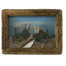 3D Diorama Desert Scene by Landscape View Co. Sahuaro Cactus in Wood Frame - $124.99