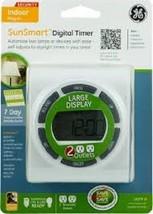 GE SunSmart 7 Day Digital Timer Large Display White Model 15079  New, Fr... - $13.09
