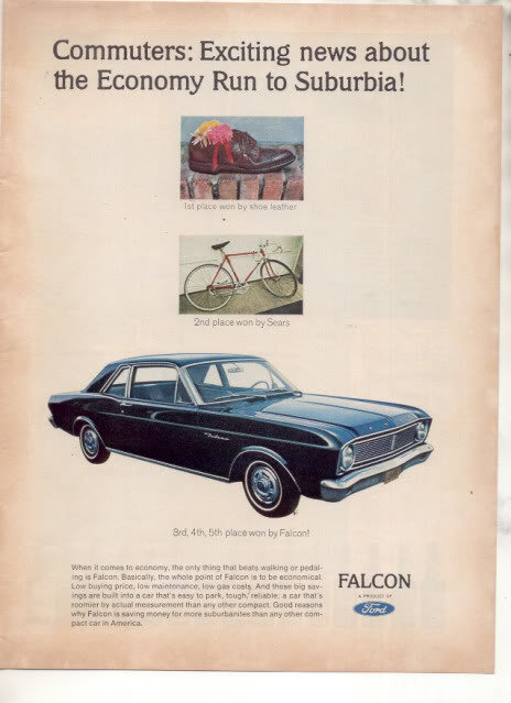 1966 FORD FALCON VINTAGE CAR AD
