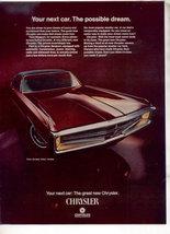 1969 1970 CHRYSLER NEWPORT 300 VINTAGE CAR AD - $9.99
