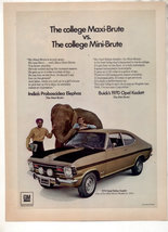 1970 BUICK OPEL KADETT VIMTAGE CAR AD - $7.99