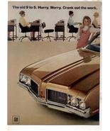 1970 OLDSMOBILE CUTLASS S VINTAGE CAR AD 2-PAGE - $11.99