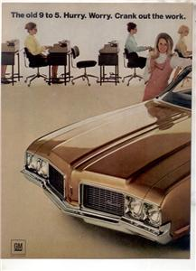 1970 OLDSMOBILE CUTLASS S VINTAGE CAR AD 2-PAGE