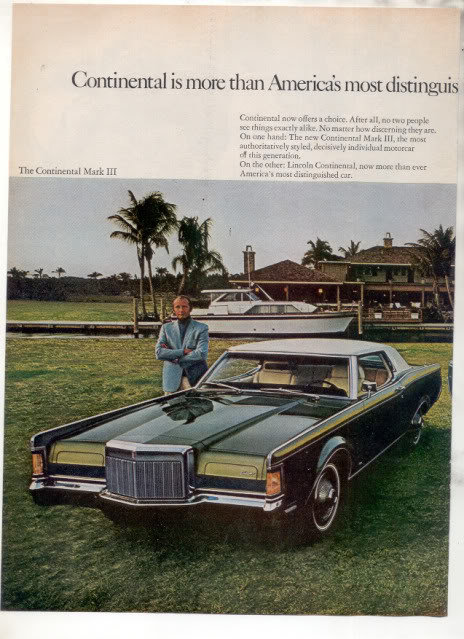 1969 LINCOLN CONTINENTAL VINTAGE CAR AD 2-PAGE