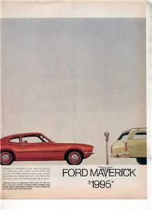 1970 FORD MAVERICK VINTAGE CAR AD 2-PAGE
