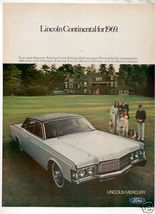 1969 LINCOLN CONTINENTAL VINTAGE CAR AD - $8.99