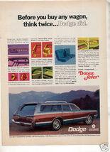 1969 Dodge Monaco Wagon Vintage Car Ad - $8.99