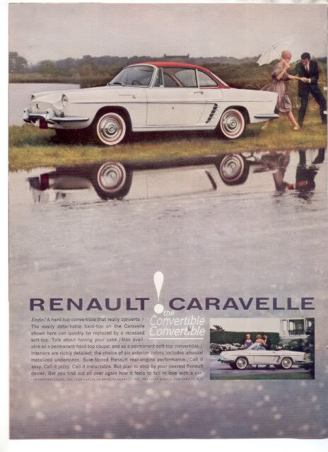 1960 RENAULT CARAVELLE CAR AD