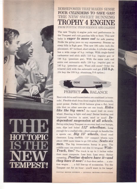 1960 TEMPEST CAR AD