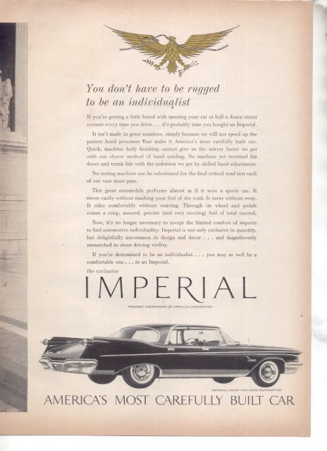 I1960 CHRYSLER IMPERIAL CAR AD