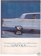 1960 LINCOLN CONTINENTAL PRINT AD - $11.99