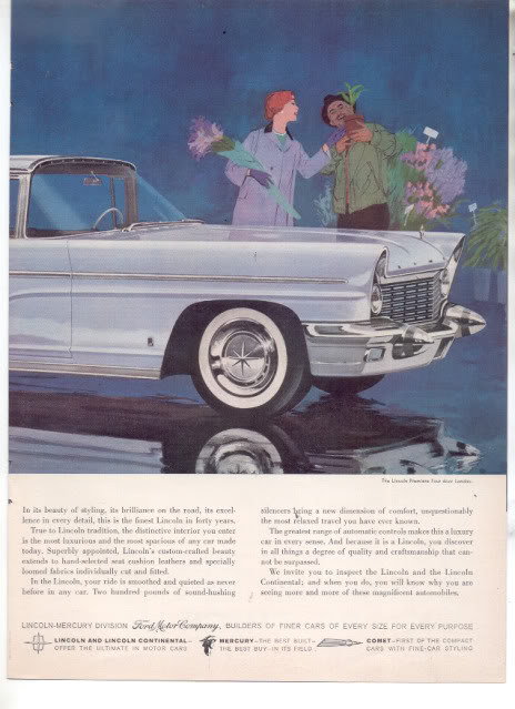 1960 LINCOLN CONTINENTAL PRINT AD