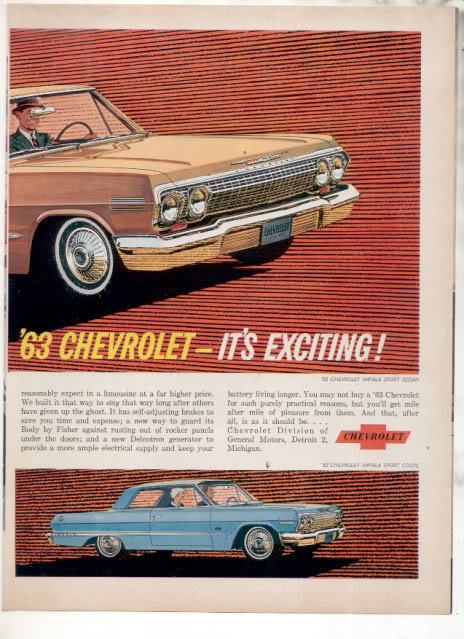 1962 IMPALA AND BEL AIR CAR AD