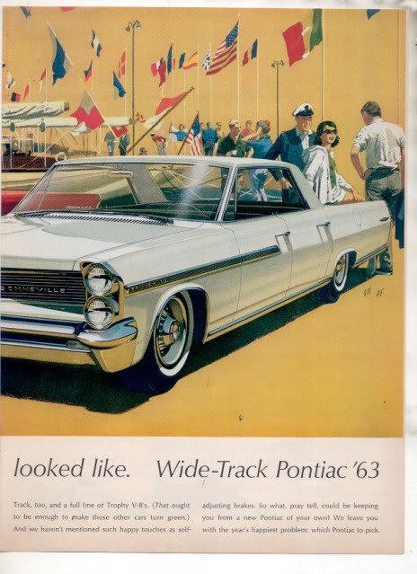 1962 CATALINA BONNEVILLE CAR AD