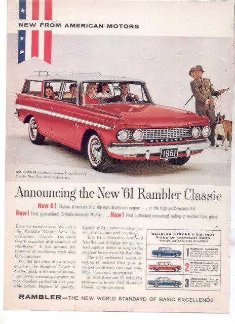 1961 RAMBLER CLASSIC AD