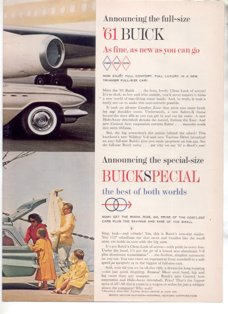 1961 BUICK SPECIAL CAR AD