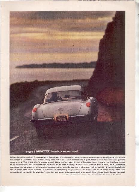 1960 CHEVY CORVETTE AD