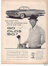 1960 OLDS WITH BING CROSBY CAR AD - $12.99
