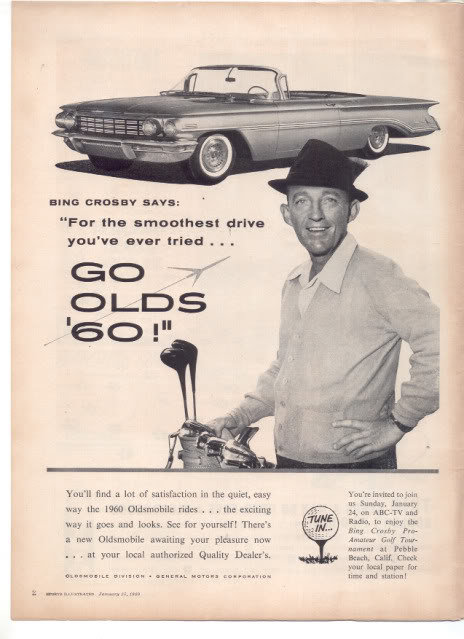 1960 OLDS WITH BING CROSBY CAR AD