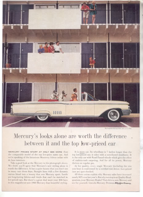 1960 MERCURY PARK LANE AD