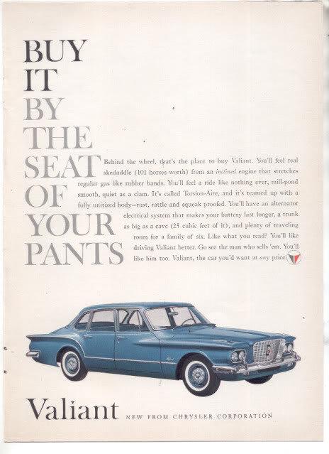 1960 PLYMOUTH VALIANT AD