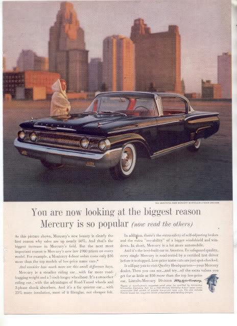 1960 MERCURY MONCLAIR CRUISER AD
