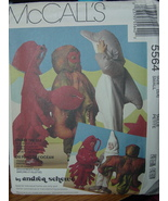 Sewing Pattern Costumes 5564 Dolphin, Octopus, Lobster sizes 3,4 UNCUT - $10.99