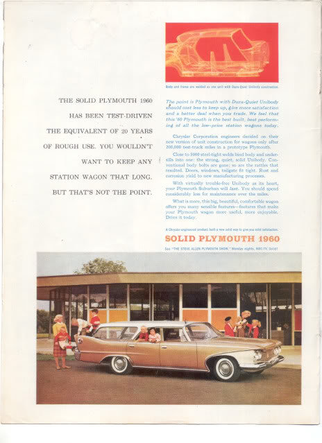 1960 PLYMOUTH STATION WAGON AD