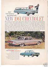1961 CHEVY BISCAYNE AD - $9.99