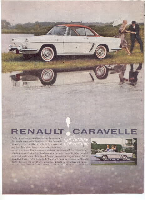 1961 RENAULT CARAVELLE CAR AD