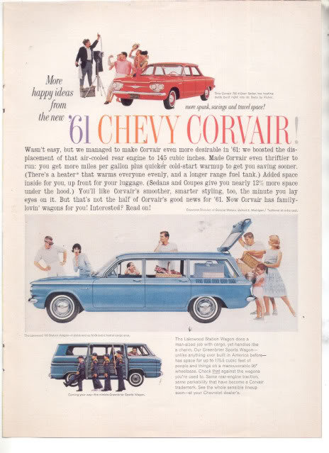 1961 CORVAIR CAR AD