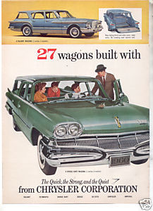 1960 PLYMOUTH WAGONS PRINT AD  2-page