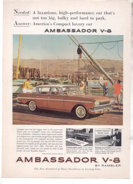 1960 RAMBLER AMBASSADOR CAR AD