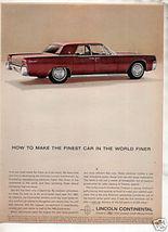 1963 LINCOLN CONTINENTAL AD - $8.99