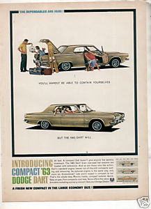 1963 DODGE DART CAR AD