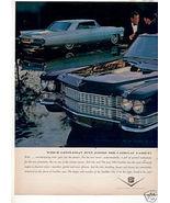 1963 CADILLAC CAR AD - $8.99
