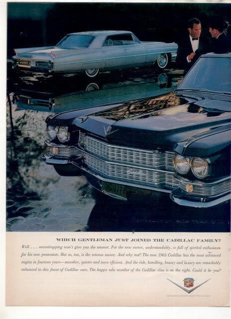 1963 CADILLAC CAR AD