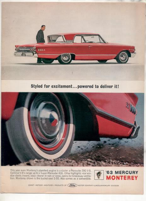 1963 MERCURY MONTEREY AD
