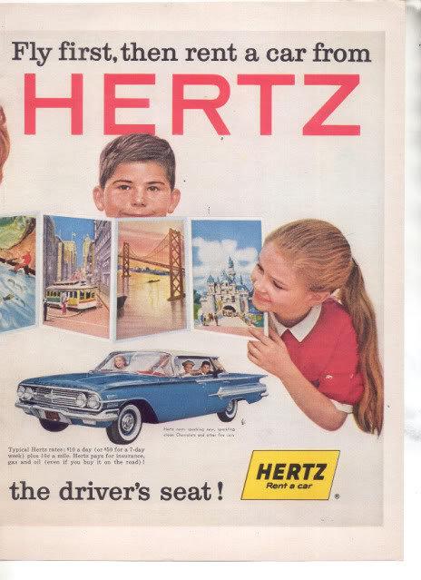 HERTZ RENT A CAR AD IMPALA