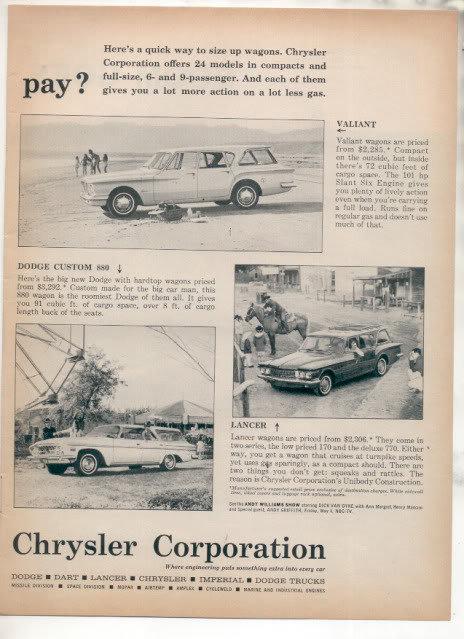 1962 STATION WAGON AD
