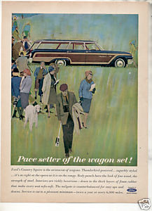 1962 FORD COUNTRY SQUIRE WAGON AD