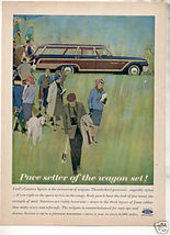 1962 FORD COUNTRY SQUIRE WAGON AD - $8.99