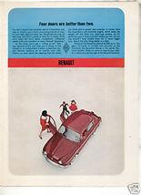1962 RENAULT DAUPHINE AD - $8.99