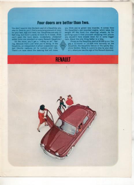1962 RENAULT DAUPHINE AD