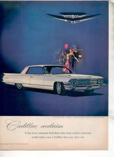 1962 CADILLAC CAR AD