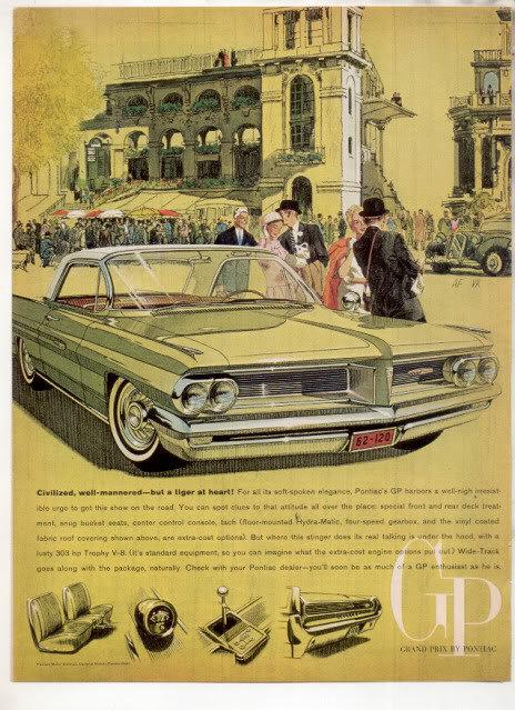 1962 PONTIAC GRAND PRIX CAR AD