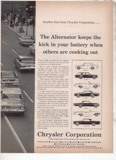 1962 CHRYSLER CORPORATION CAR AD