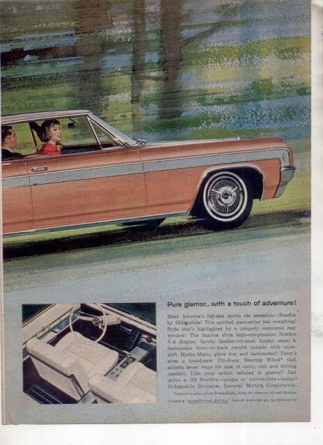 1963 OLDS STARFIRE CAR AD